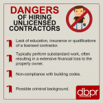 dangers of hiring unlicensed contractors