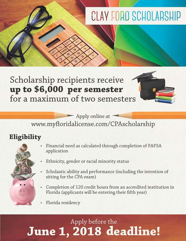 Clay Ford Scholarship Flyer