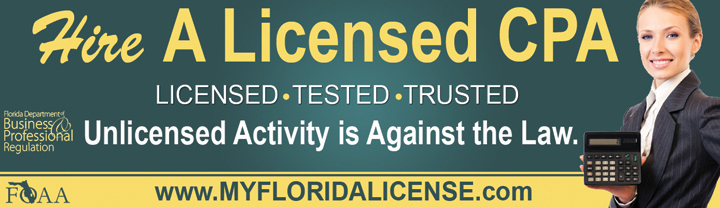 Hiring a CPA? Check licenses at www.myfloridalicense.com