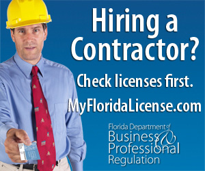 Hiring a contractor? Check licenses first. My Florida License dot com. Florida Department of Business and Professional Regulation.
