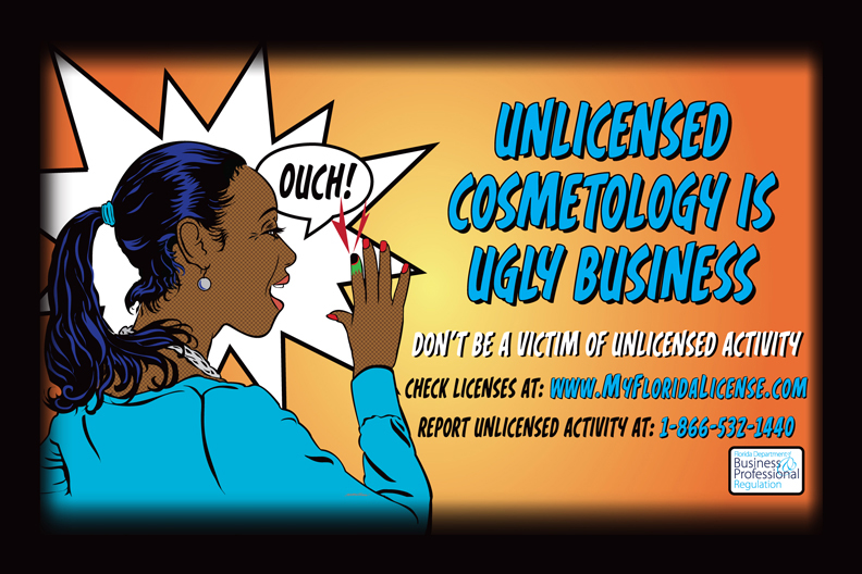 Cosmetology movie theater ad