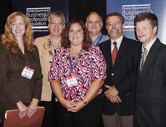 Hospitality Education Program team at the 2008 Florida Restaurant and Lodging Show in Orlando.