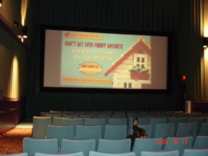 Real Estate Ad in the movie theater
