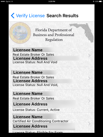 business florida license search - best business 2018