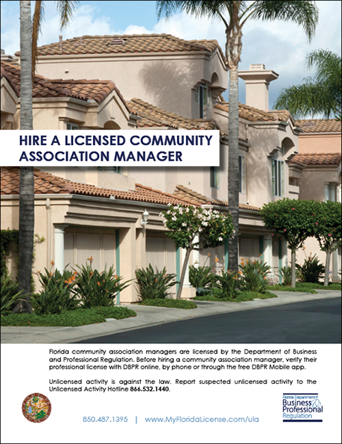 Hire a Licensed Community Association Manager